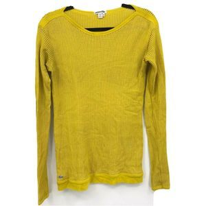 Lacoste Top Size 42 Mesh Type Long Sleeve Yellow